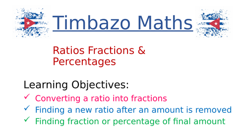 Ratios Fractions and Percentages