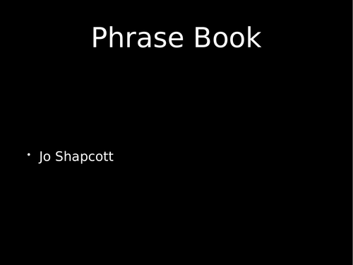 OCR Power and Conflict Poetry - Phrasebook