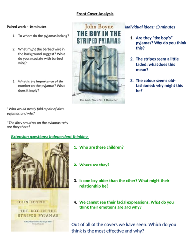 Lesson 1a Boy in the striped pyjamas intro