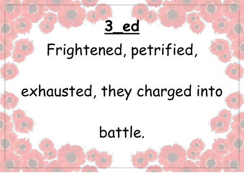 Alan Peat Style Sentence Types World War Two