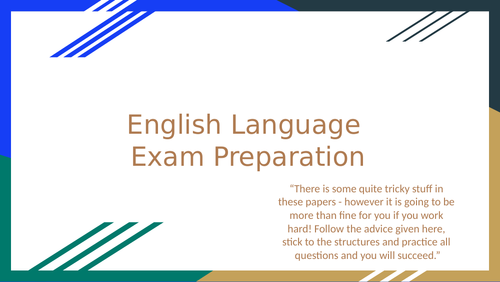 English Language Paper 1 and Paper 2