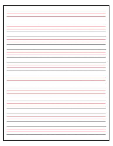 Handwriting Paper (3 sheets)
