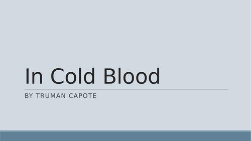 Truman Capote's In Cold Blood - Presentation