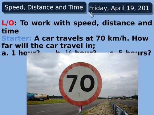 Speed Distance Time from beginning to advanced for all years