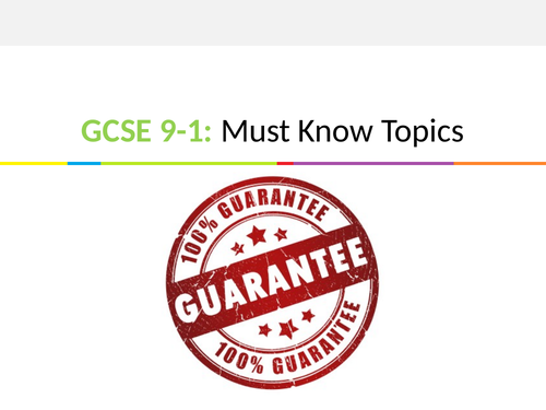 GCSE 9-1 Maths Must Know Topics