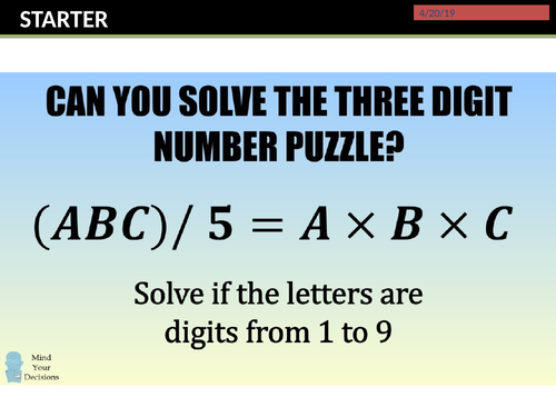 GCSE 9-1 Maths Digit Proofs