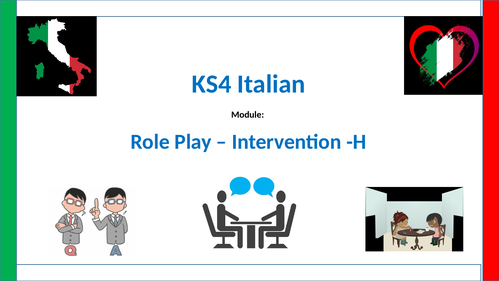 Italian Higher-role play Intervention lesson