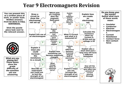 Electromagnets Revision Puzzle