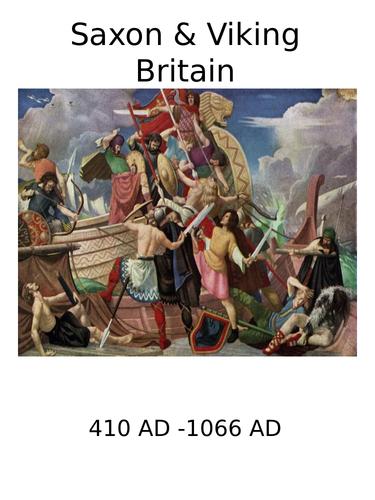 Timeline & Market Place Activity: Saxon & Viking Britain 410 - 1066 AD