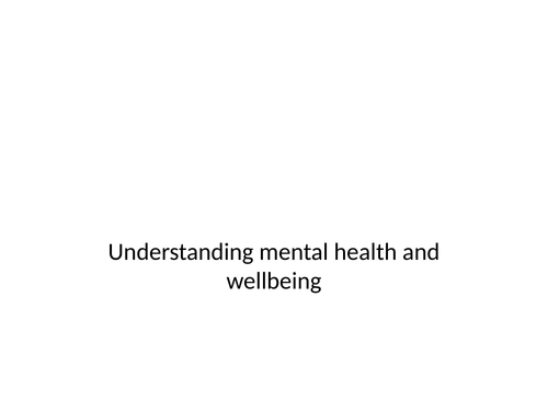 Year 9 and Year 10 mental health SOW