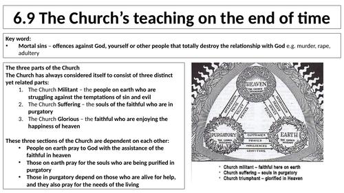 AQA B GCSE - 6.9 - The Church's teaching on the end of time