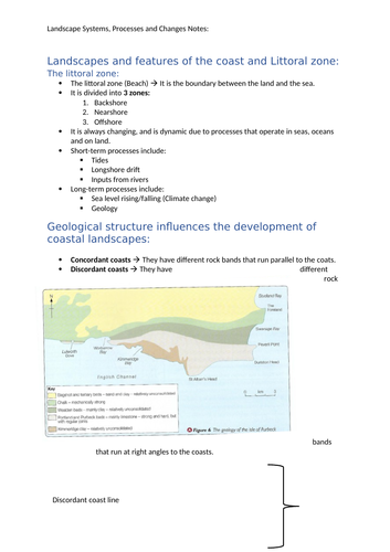 Landscape Systems, Processes and Changes notes - A-level Geography Edexcel
