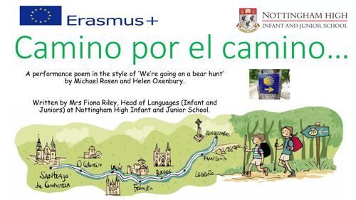 KS2 KS3 Primary Spanish Performance Poem - Camino por el camino