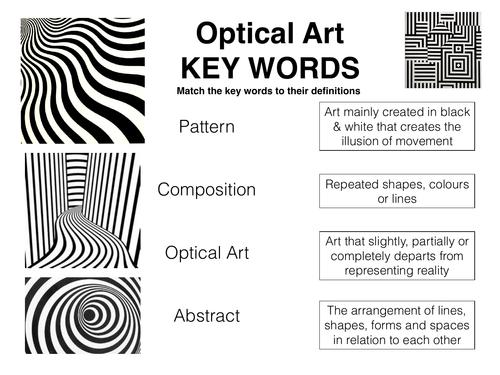 Op Art Key Words STARTER ACTIVITY