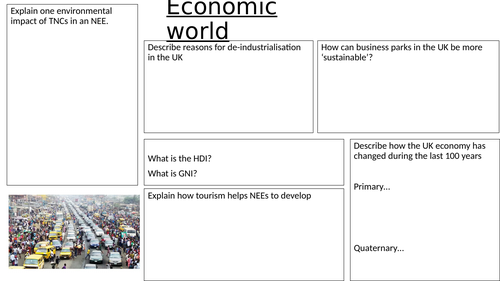 Changing Economic World revision sheet