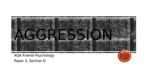 AQA Psychology - Aggression topic revision