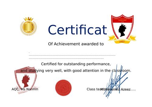 editable-Certificate-of-achievment A4