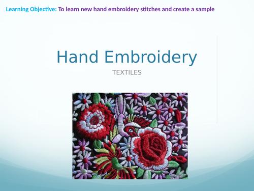Embroidery & Applique Textile Design