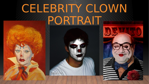 CELEBRITY CLOWN PORTRAIT