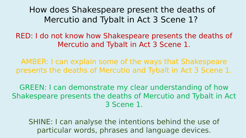 Romeo and Juliet Unit/Scheme of work - Act 3. 7 lessons - key extracts, quotations and questions.