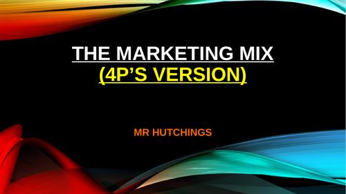 Marketing mix 4P AND 7P VERSION