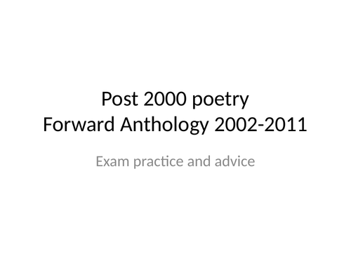 Post 200 poetry revision