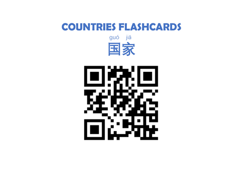 Countries Flashcards  (Mandarin Chinese)