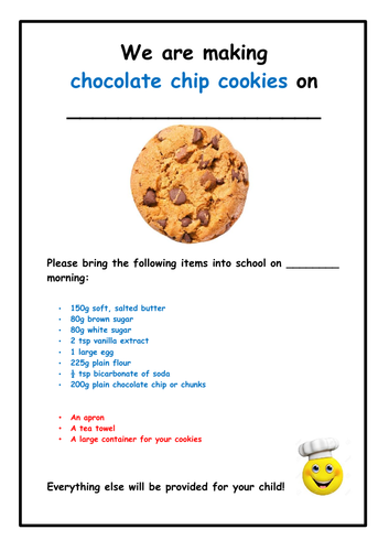 Food Technology: Chocolate Chip Cookies