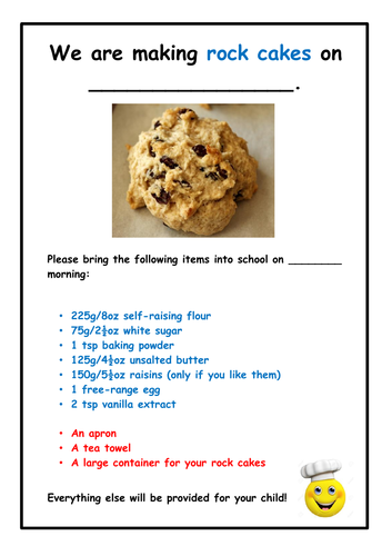 Food Technology: Rock Cakes