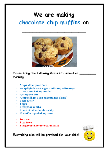 Food Technology: Chocolate Chip Muffins
