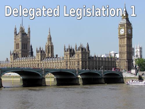 Delegated Legislation SOW OCR Law