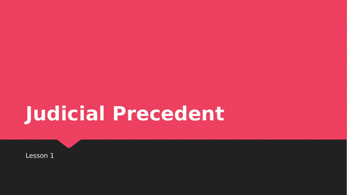 Judicial Precedent SOW OCR Law