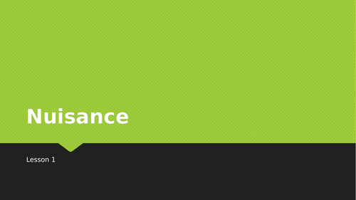 Nuisance & Rylands v Fletcher SOW