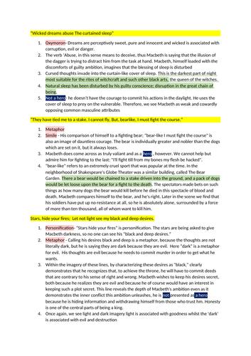 'Macbeth as a Hero' essay plan- Detailed template