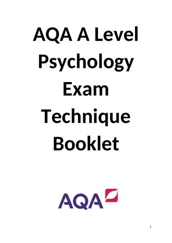 AQA A level Psychology exam skills booklet.