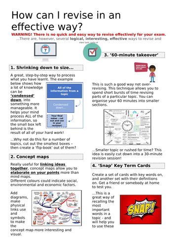Revision Strategies Information Sheet
