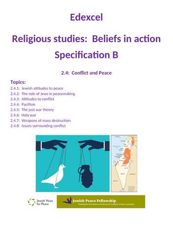 Revision Edexcel GCSE RS specification B:  Peace & Conflict - Judaism