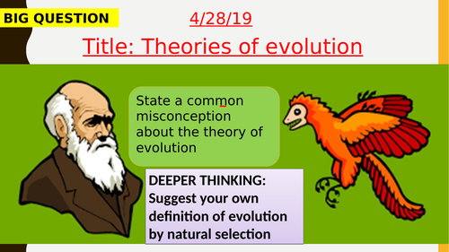 AQA new specification-Theories of evolution-B15.2