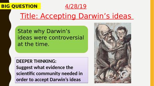 AQA new specification-Accepting Darwin's ideas-B15.3
