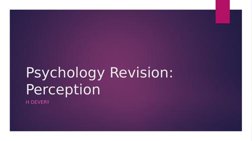 Perception Revision Powerpoint (AQA GCSE Psychology- New Spec)