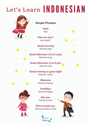 Indonesian simple phrases