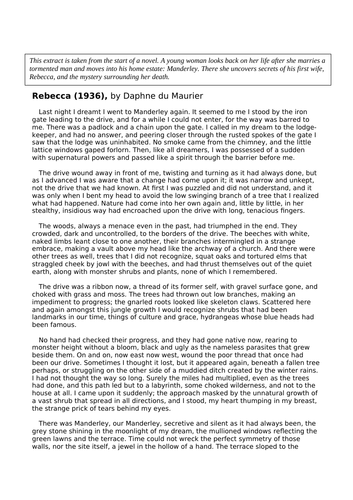 Rebecca Paper 1 English Language AQA Mock Paper