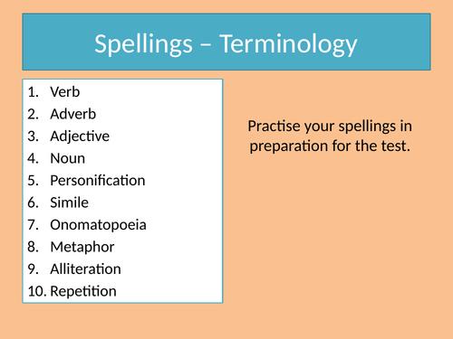 Spelling - KS3/KS4