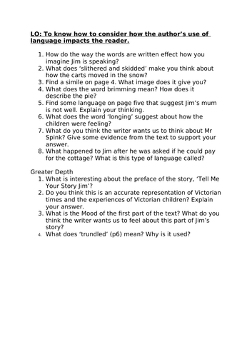 Street Child - Year 5/KS2 - Guided Reading Planning