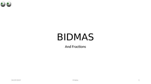BIDMAS and Fractions