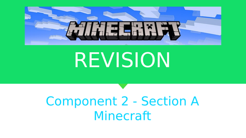 Minecraft - Revision Guide - OCR A Level Media