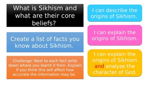 Sikhism - Entire scheme of work + resources