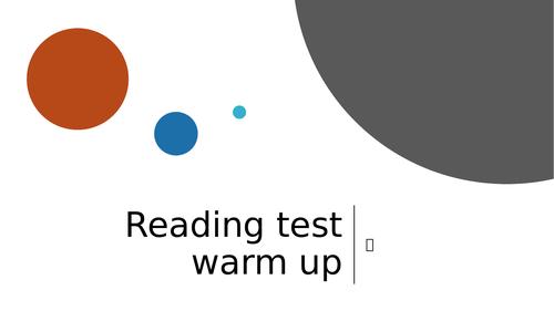 KS2 reading SATs reading warm up