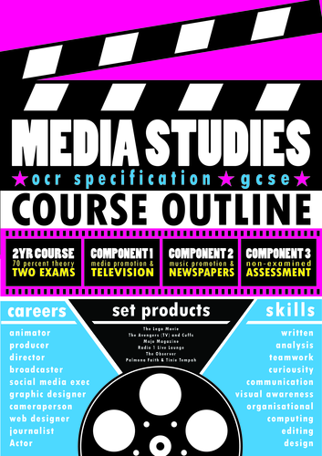 OCR GCSE Media Studies - Poster/Handout (with editable Illustrator file)