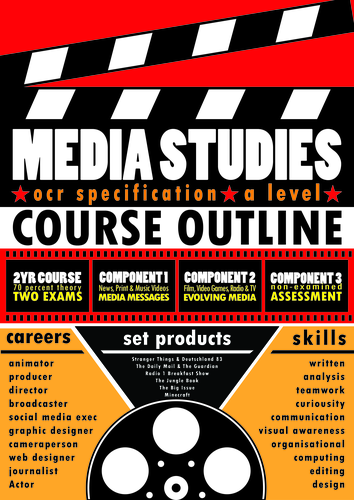 OCR A Level Media Studies - Poster/Handout (with editable Illustrator file)
